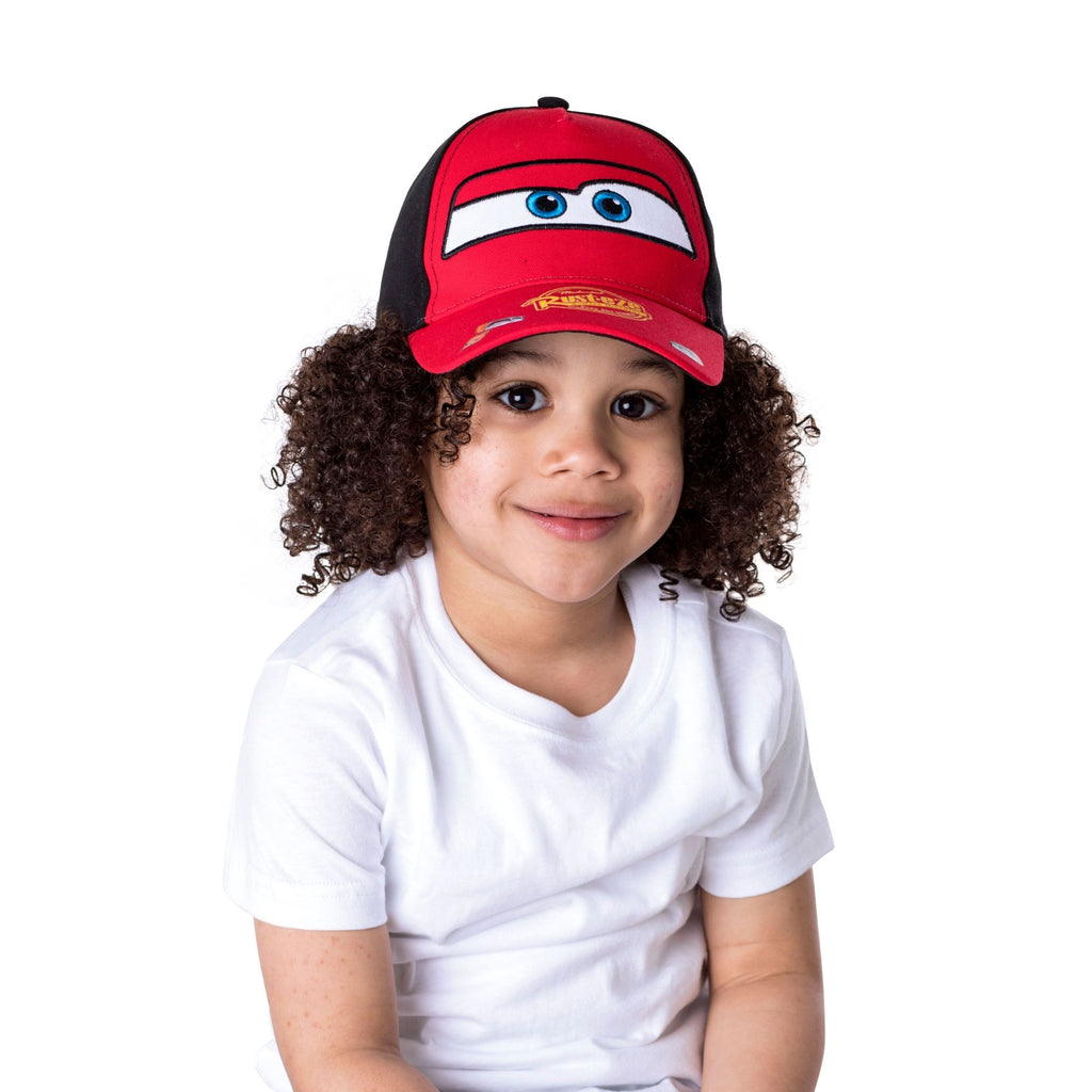 ac4046ac917f Disney Cars Lightning McQueen Character Cotton Baseball Cap, Red,Toddler  Boys,Age 2