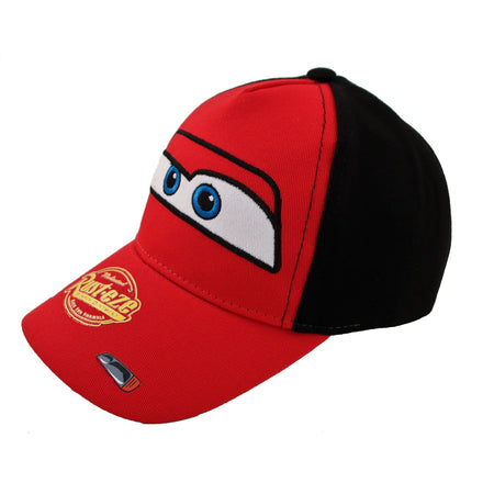 Disney Cars Lightning McQueen Character Cotton Baseball Cap, Red,Toddler Boys,Age 2-4 - The Accessories Outlet