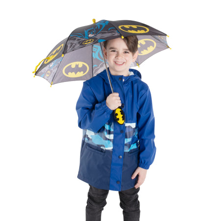 DC Comics Batman Character Rainwear Umbrella, Little Boys, Age 3-7 - The Accessories Outlet