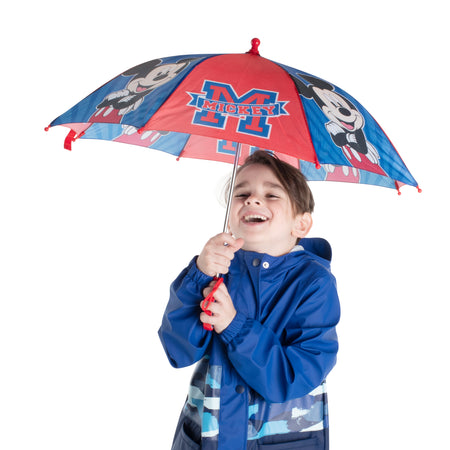 Disney Mickey Mouse Character Rainwear Umbrella, Little Boys, Age 3-7 - Accessory Place
