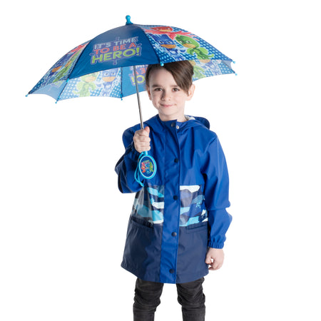 PJ Masks Little Boys Assorted Character Rainwear Umbrella, Age 3-7