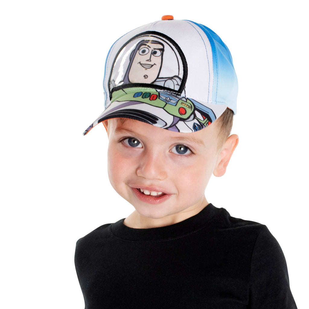 Disney Buzz Lightyear Character Baseball Cap, Blue/White, Toddler Boys Ages 2-4 - The Accessories Outlet