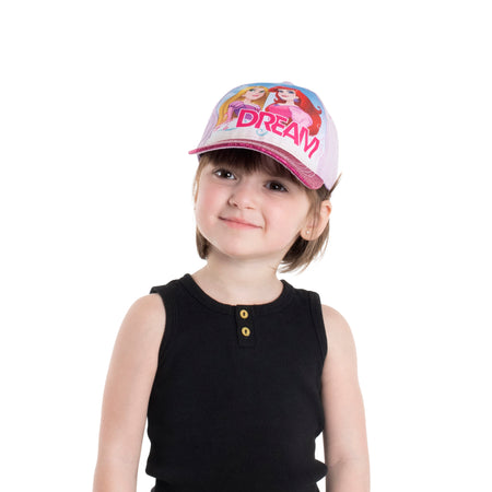Disney Toddler Girls Princess Character Cotton Baseball Cap, Pink, Age 2-4