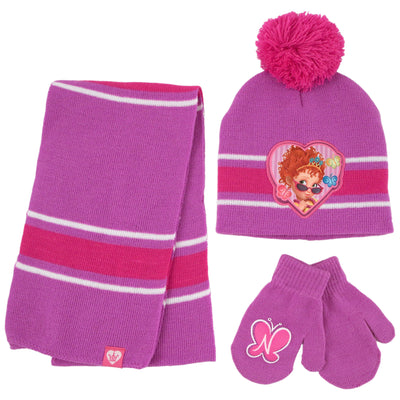 Disney Fancy Nancy Hat, Scarf and Mitten Cold Weather Set, Toddler Girls, Age 2-4 - The Accessories Outlet