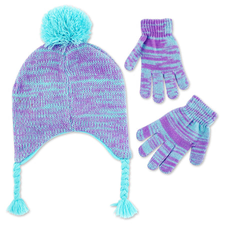 Disney Frozen Elsa Hat and Gloves Cold Weather Set, Little Girls, Age 4-7 - The Accessories Outlet