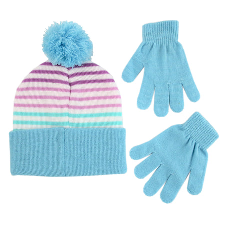 Disney Frozen Character Hat and Gloves Cold Weather Set, Little Girls, Age 4-7 - The Accessories Outlet
