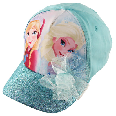 Disney Frozen Elsa and Anna Cotton Baseball Cap, Little Girls, Age 4-7 - The Accessories Outlet