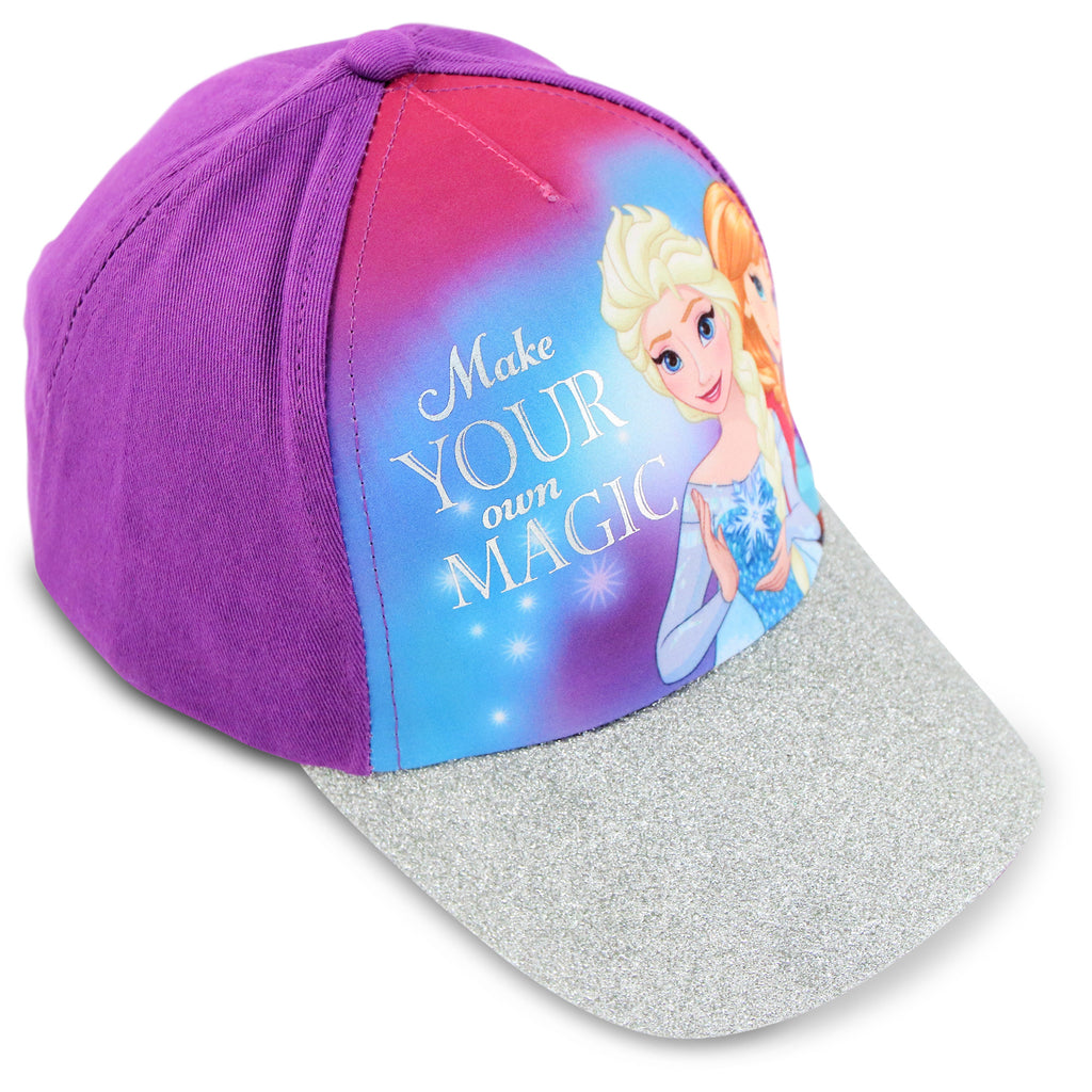 bc5493b179a ... top quality disney frozen elsa and anna cotton baseball cap little girls  age 4 7 d0a2c