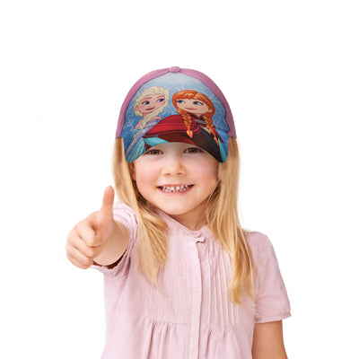 Disney Little Girls Frozen Assorted Character Cotton Baseball Cap, Age 2-7 - The Accessories Outlet