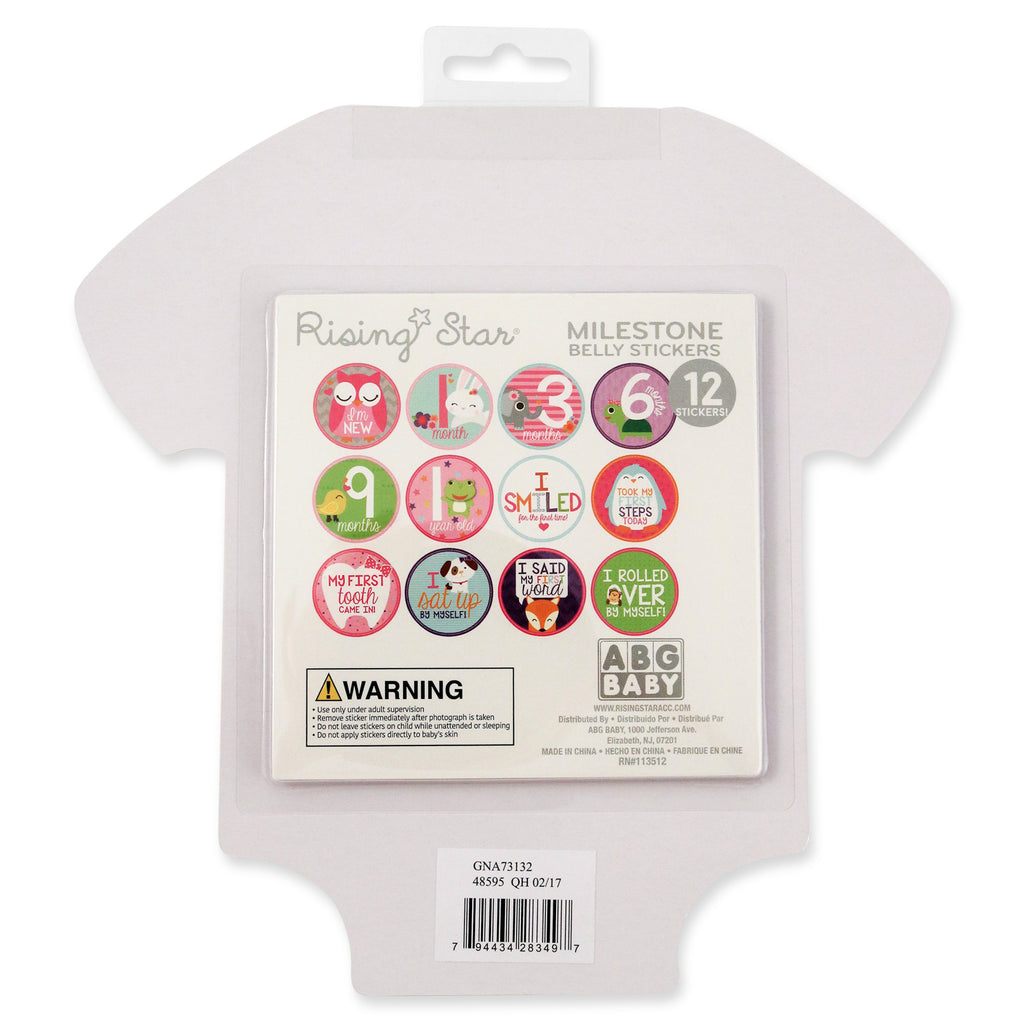 Rising Star Milestone Photo Sharing Occasions Belly Stickers Gift Set, Baby Girls, Age 0-12M - The Accessories Outlet