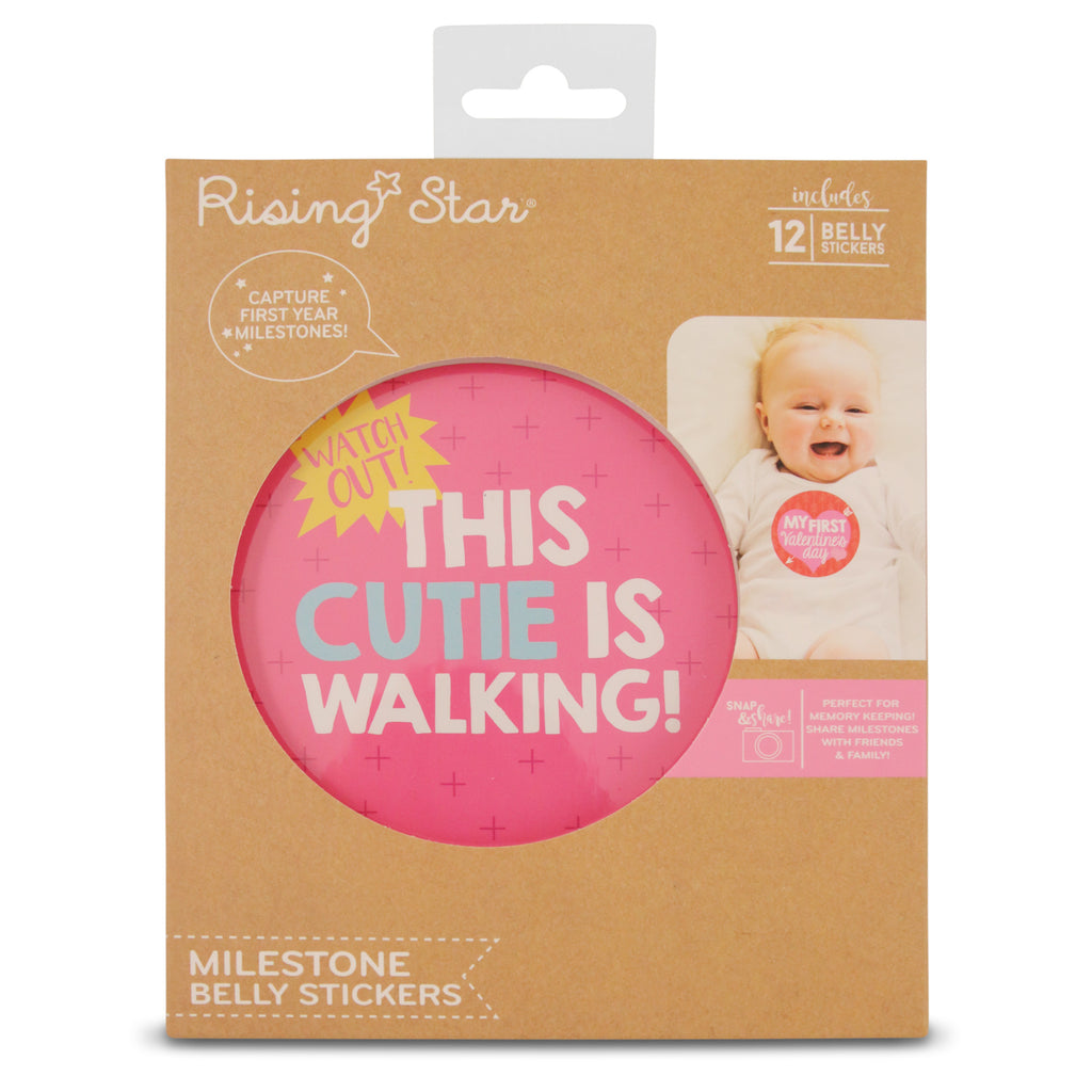 Rising Star Milestone Occasions Photo Sharing Belly Stickers Gift Set, Baby Girls, Age 0-12M - The Accessories Outlet