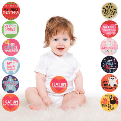Rising Star Milestone Occasions Photo Sharing Belly Stickers Gift Set, Baby Girls, Age 0-12M - Accessory Place