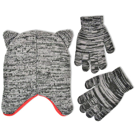 ABG Accessories Wolf Critter Hat and Glove Cold Weather Set, Little Boys, Age 4-7 - The Accessories Outlet
