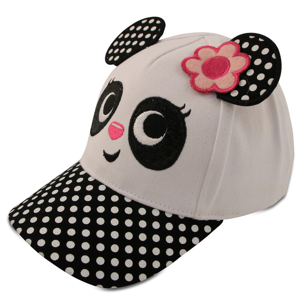 ABG Accessories Panda Critter Design Cotton Baseball Cap, Toddler Girls, Age 2-4 - The Accessories Outlet