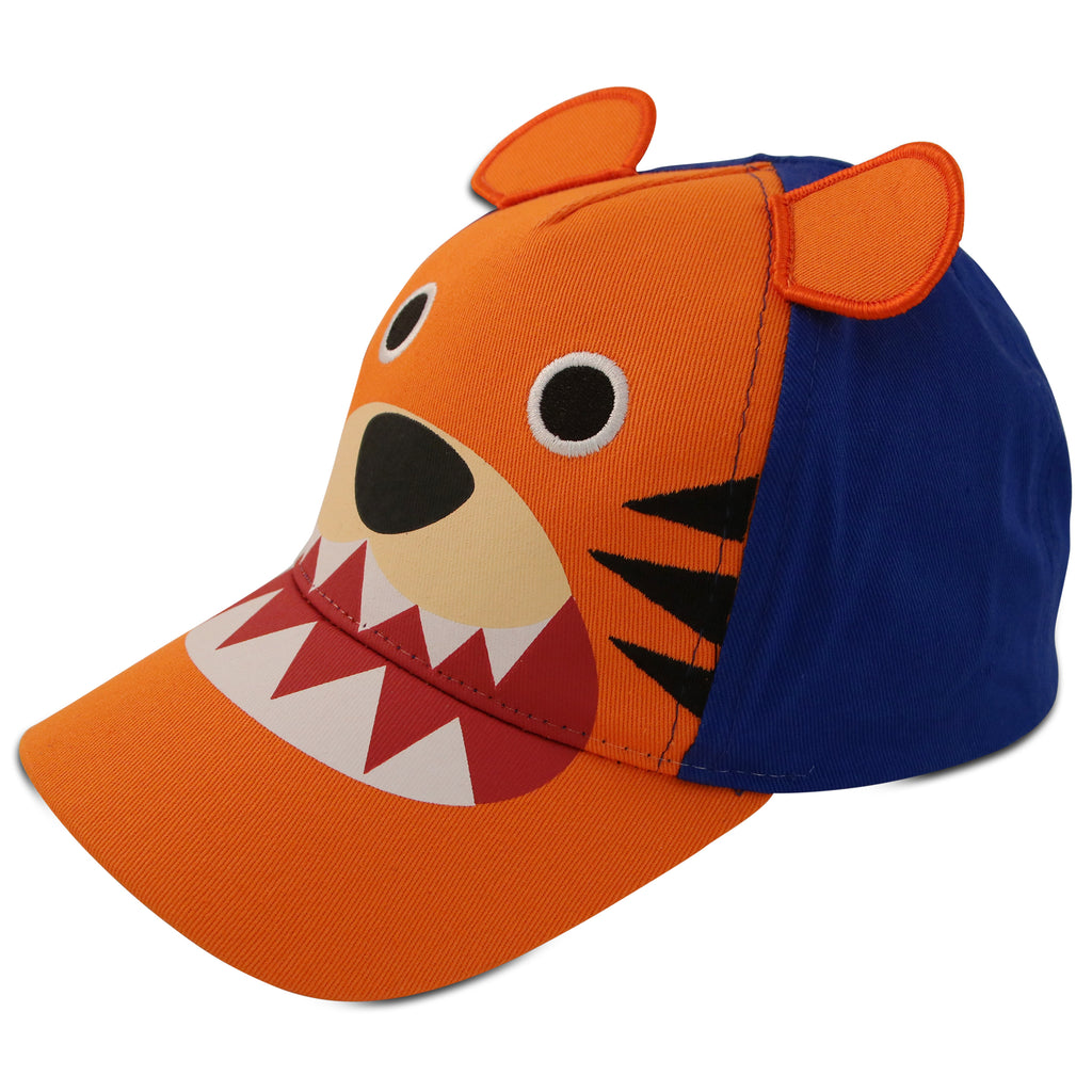 ABG Accessories Tiger Critter Design Cotton Baseball Cap, Toddler Boys, Age 2-4 - The Accessories Outlet