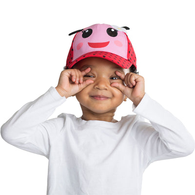 ABG Accessories Ladybug Critter Design Cotton Baseball Cap, Toddler Girls, Age 2-4 - The Accessories Outlet