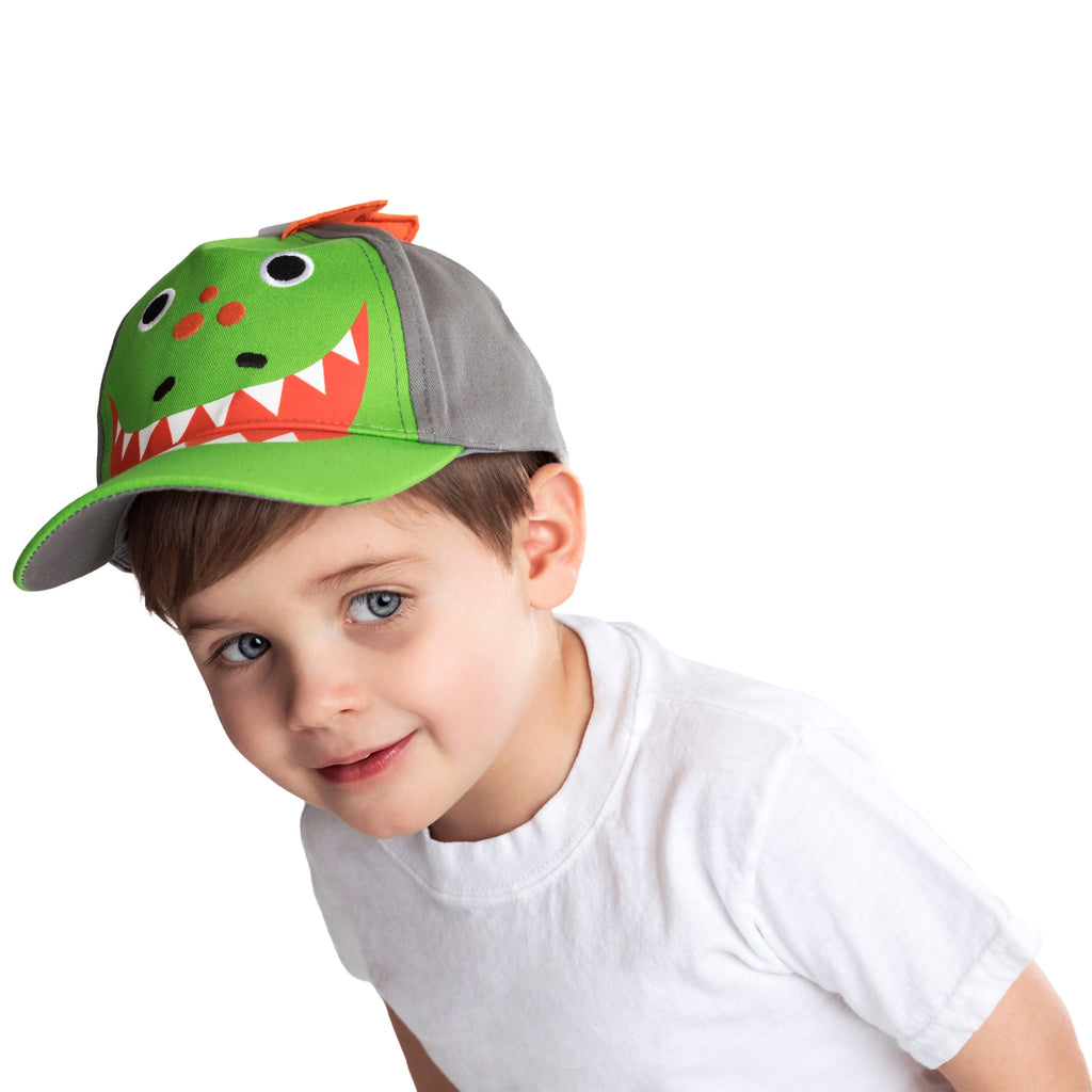ABG Accessories Dinosaur Critter Design Cotton Baseball Cap, Toddler Boys, Age 2-4 - The Accessories Outlet