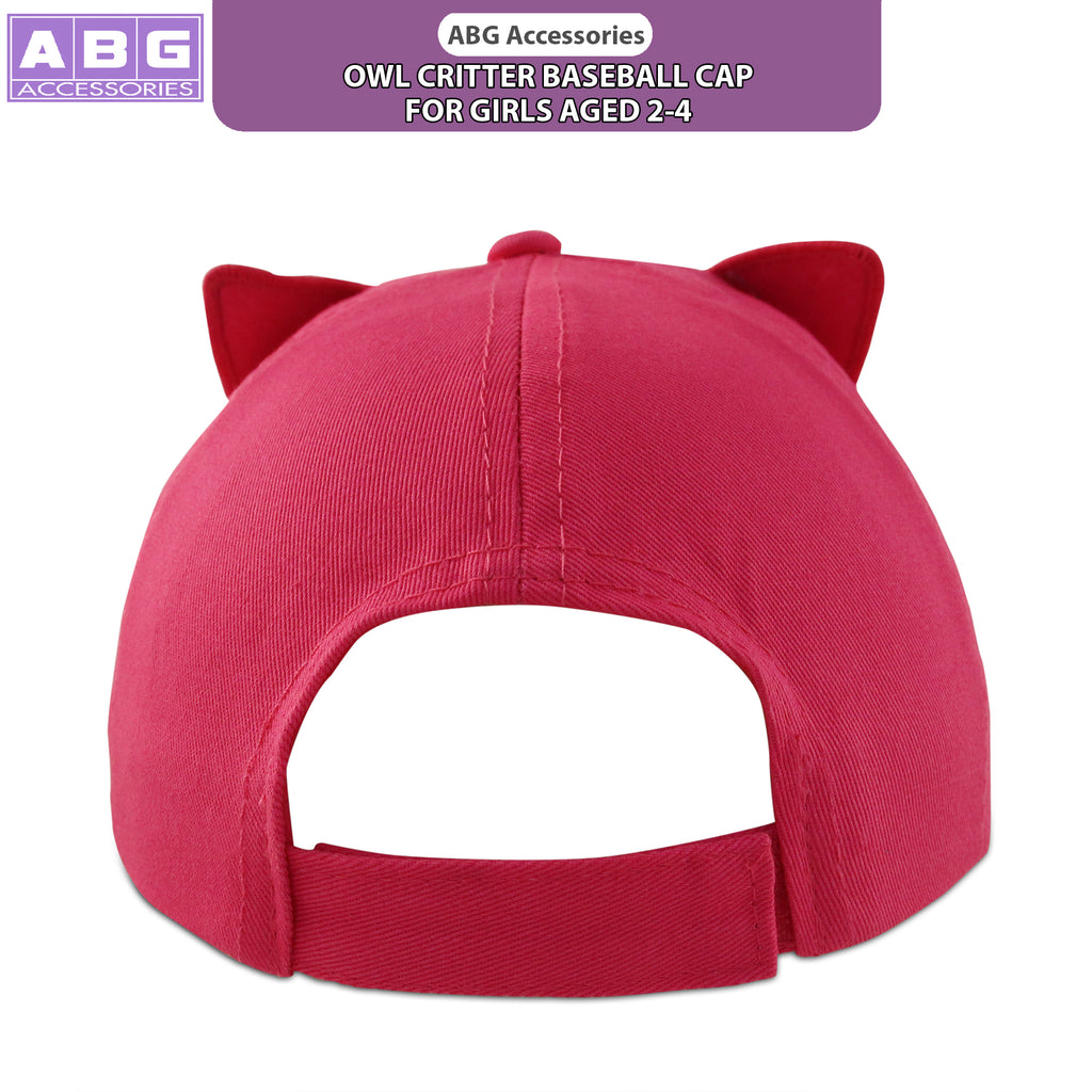 ABG Accessories Owl Critter Design Cotton Baseball Cap, Toddler Girls, Age 2-4 - The Accessories Outlet