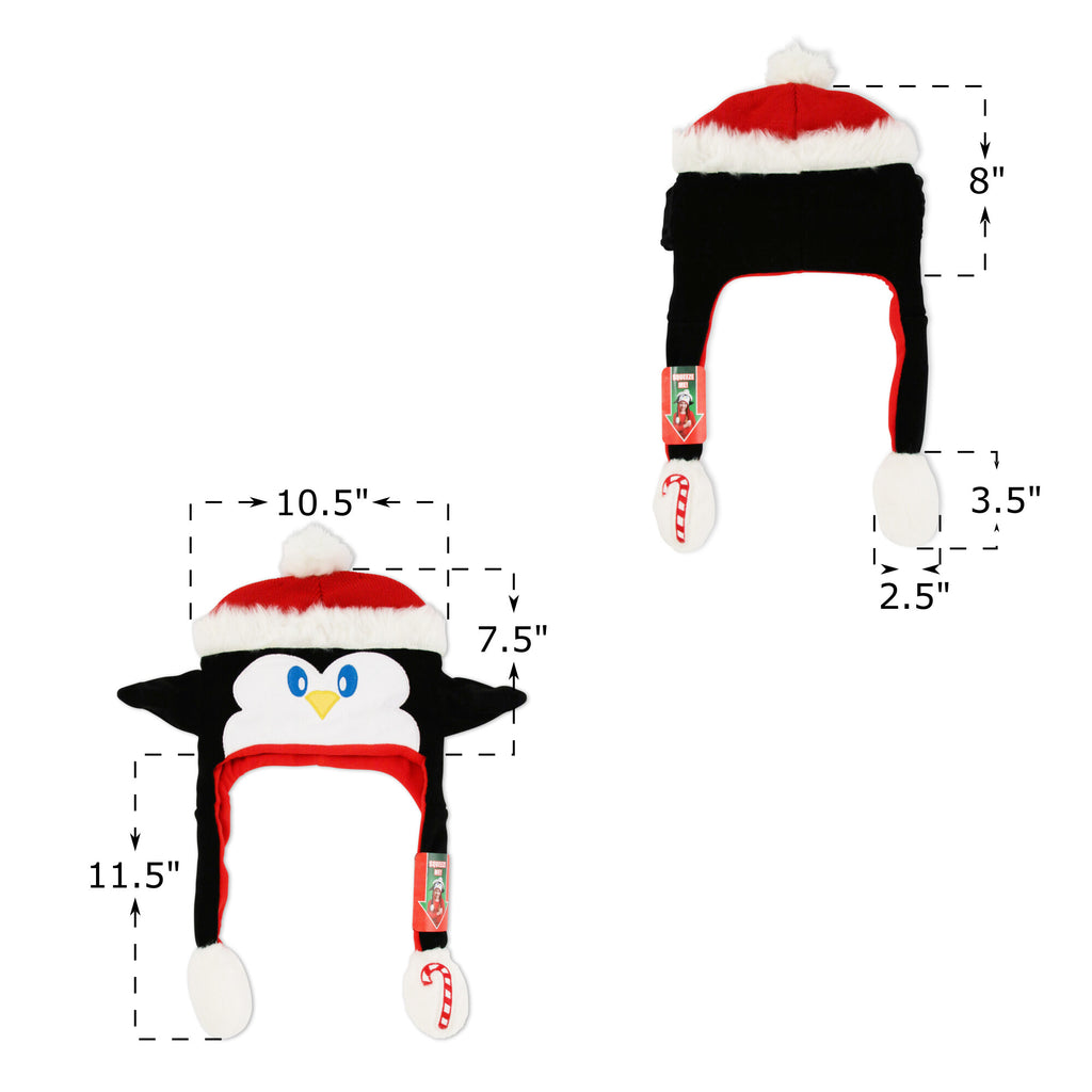 ABG Accessories Ugly Christmas Penguin Squeeze and Flap Fun Hat, Unisex, Age 4-7 - The Accessories Outlet