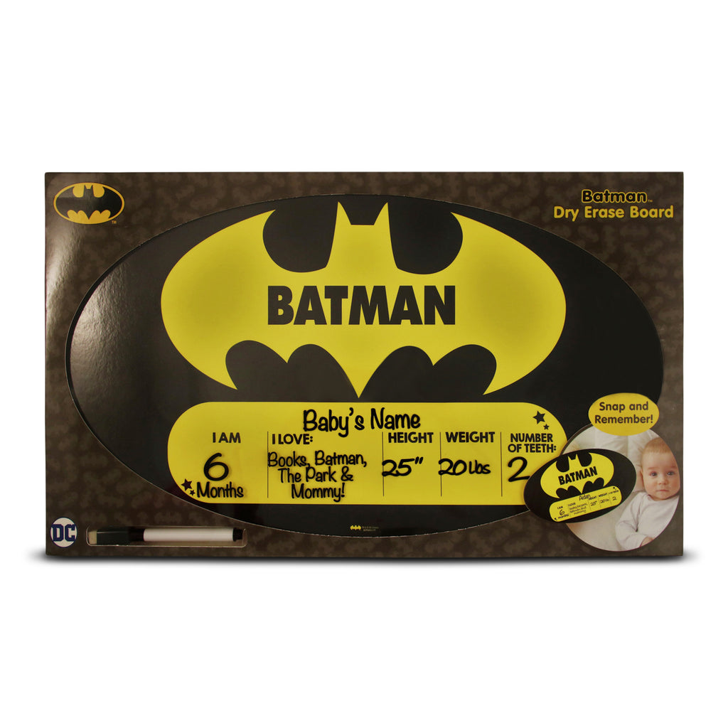 DC Comics Batman Milestone Photo Prop Dry Erase Board Gift Set, Baby Boys, Age 0-24M - The Accessories Outlet
