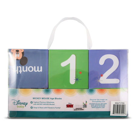 Disney Mickey Mouse Milestone Photo Sharing Age Blocks Gift Set, Baby Boys, Age 0-24M - Accessory Place