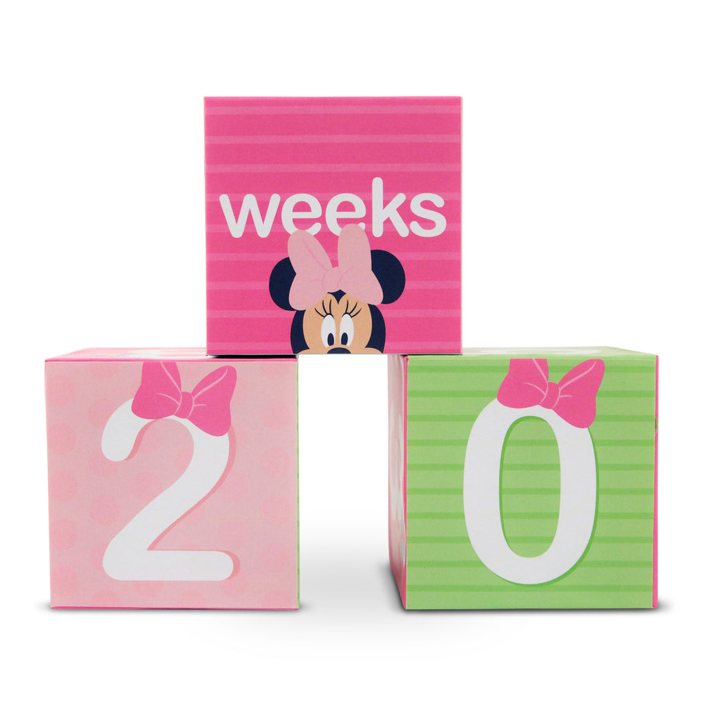Disney Minnie Mouse Milestone Photo Prop Age Blocks Gift Set, Baby Girls, Age 0-24M - The Accessories Outlet