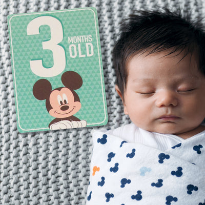 Disney Mickey Mouse Milestone Photo Sharing Designer Cards Gift Set, Baby Boys, Age 0-12M - Accessory Place