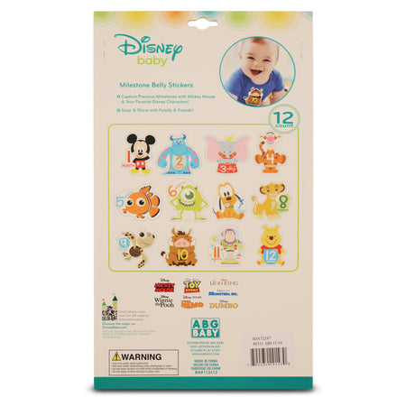 Disney Assorted Character Milestone Monthly Photo Prop Belly Stickers Gift Set, Baby Boys, Age 0-12M - The Accessories Outlet