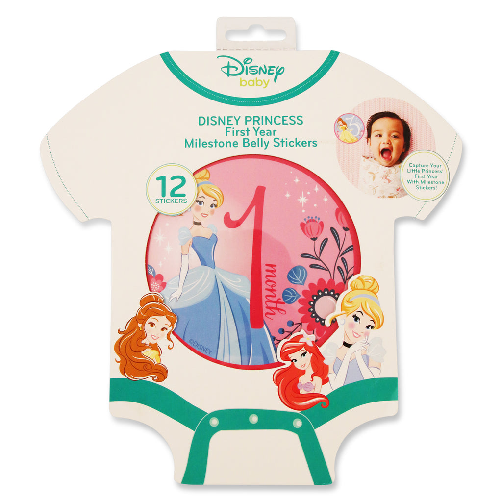 Disney Princess Milestone Monthly Photo Prop Belly Stickers Gift Set, Baby Girls, Age 0-12M - The Accessories Outlet