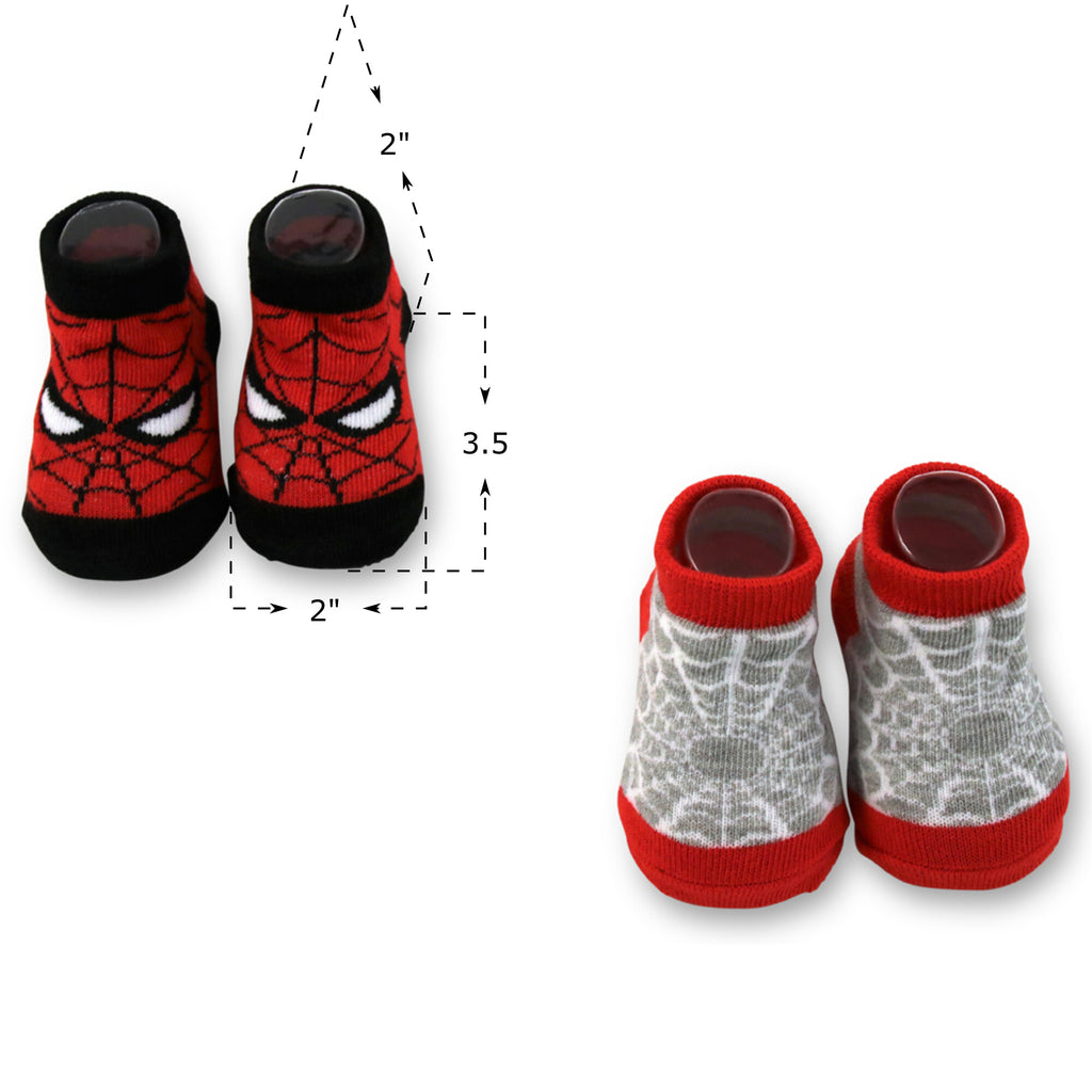 Marvel Baby Boys Spiderman 2-Pack Socks Set, Age 0-12M - The Accessories Outlet