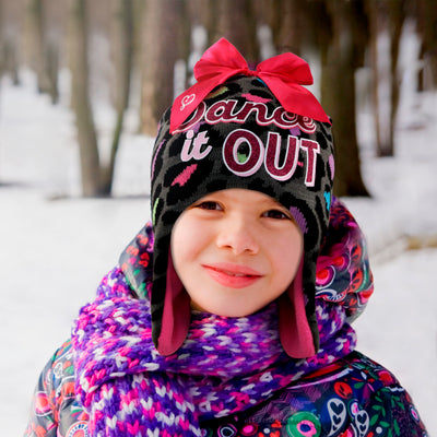 Nickelodeon JoJo Siwa Hat and Gloves Cold Weather Set, Little Girls, Age 4-7 - The Accessories Outlet