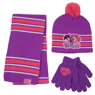 Hasbro My Little Pony Hat, Scarf and Gloves Cold Weather Set, Little Girls, Age 4-7 - The Accessories Outlet