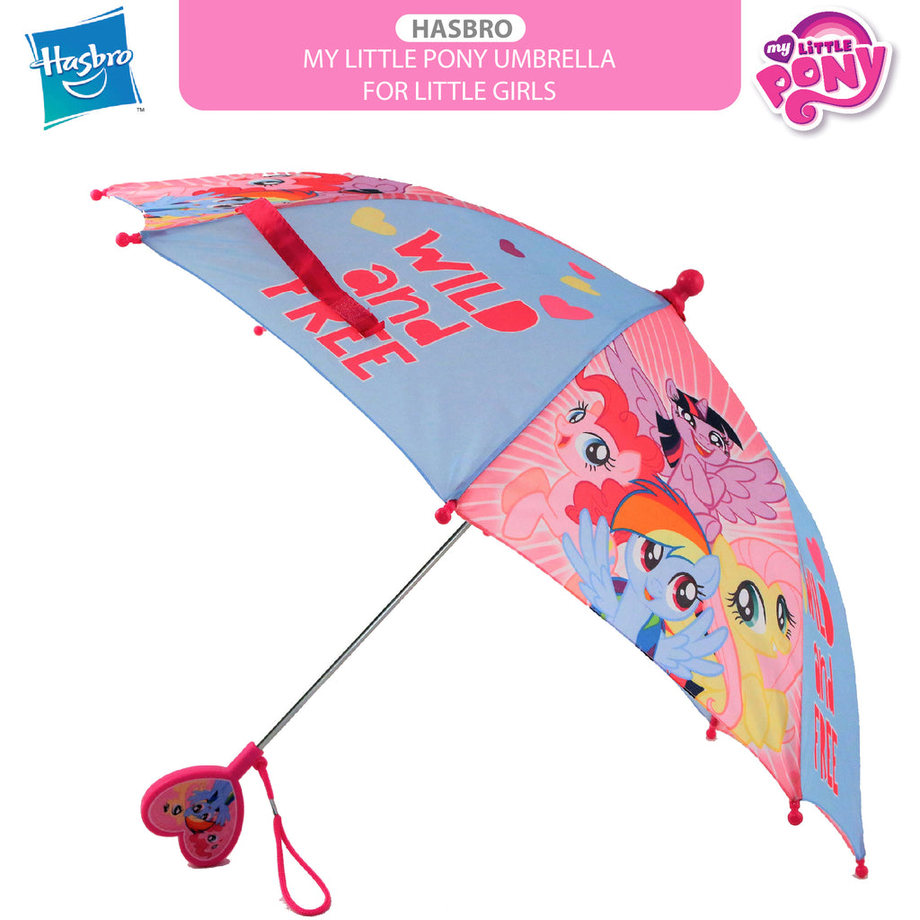 Hasbro My Little Pony Character, Rainwear Umbrella, Little Girls, Age 3-7 - The Accessories Outlet