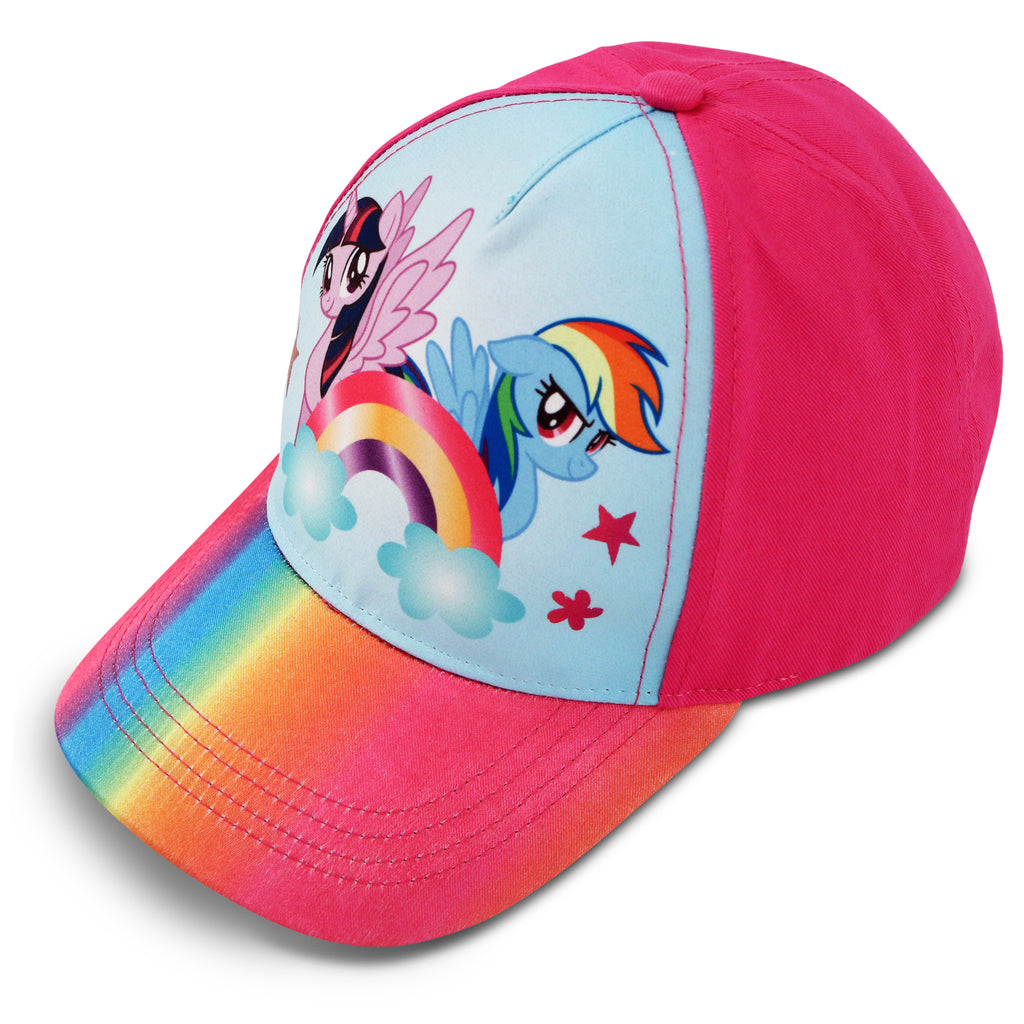 Hasbro Little Girls My Little Pony Character Cotton Baseball Cap, Ages 4-7