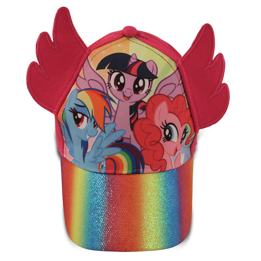 Hasbro Little Girls My Little Pony Character Cotton Baseball Cap, Pink, Age 2-7 - The Accessories Outlet