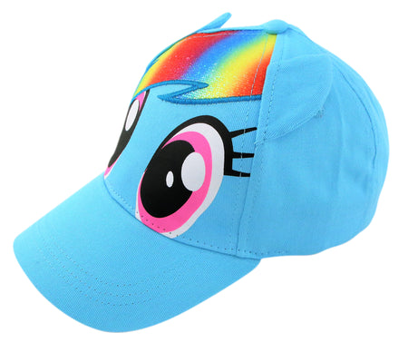 Hasbro Little Girls My Little Pony Character Cotton Baseball Cap, Blue, Age 4-7 - The Accessories Outlet