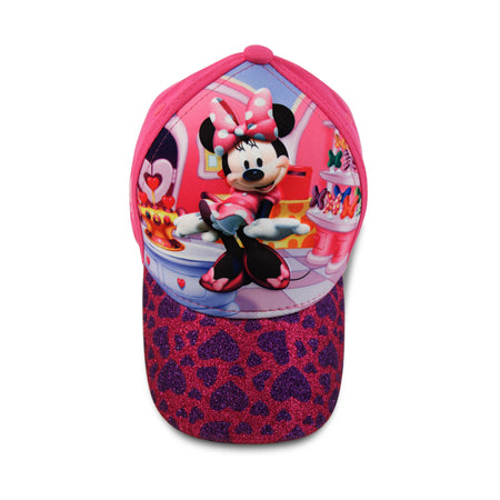 Disney Minnie Mouse Character 3D Pop Baseball Cap, Pink, Toddler Girls Age 2-4 - The Accessories Outlet