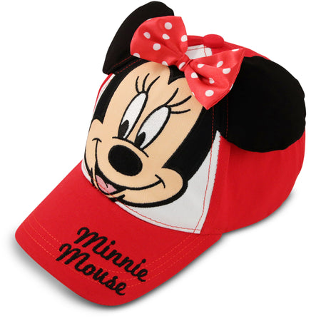 Disney Minnie Mouse Bowtique Cotton Baseball Cap, Toddler Girls, Age 2-4 - The Accessories Outlet