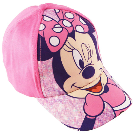 Disney Minnie Mouse Pink Bowtique Cotton Baseball Cap, Toddler Girls, Age 2-4 - The Accessories Outlet