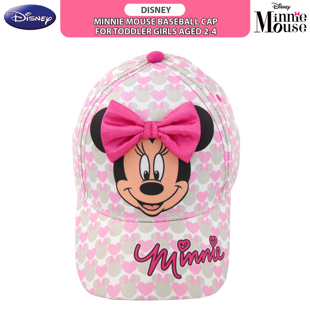 Disney Minnie Mouse Bowtique Baseball Cap, Toddler Girls, Age 2-4 - The Accessories Outlet
