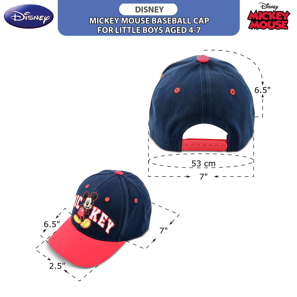 Disney Little Boys Mickey Mouse Cotton Baseball Cap, , Ages 4-7 - The Accessories Outlet