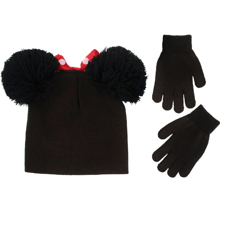 9386be10 ... Disney Minnie Mouse Hat and Gloves Cold Weather Set, Little Girls, Age  4-