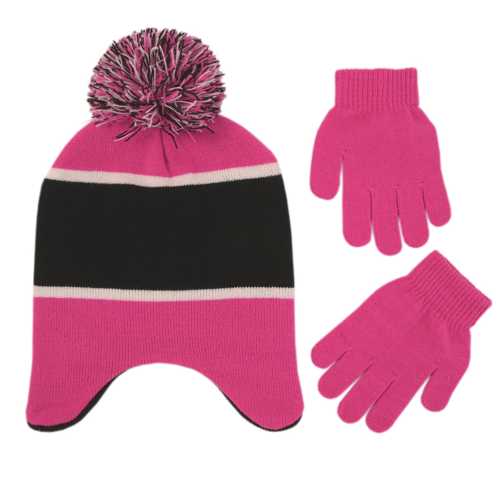 Disney Minnie Mouse Hat and Glove Cold Weather Set, Little Girls, Age 4-7 - The Accessories Outlet