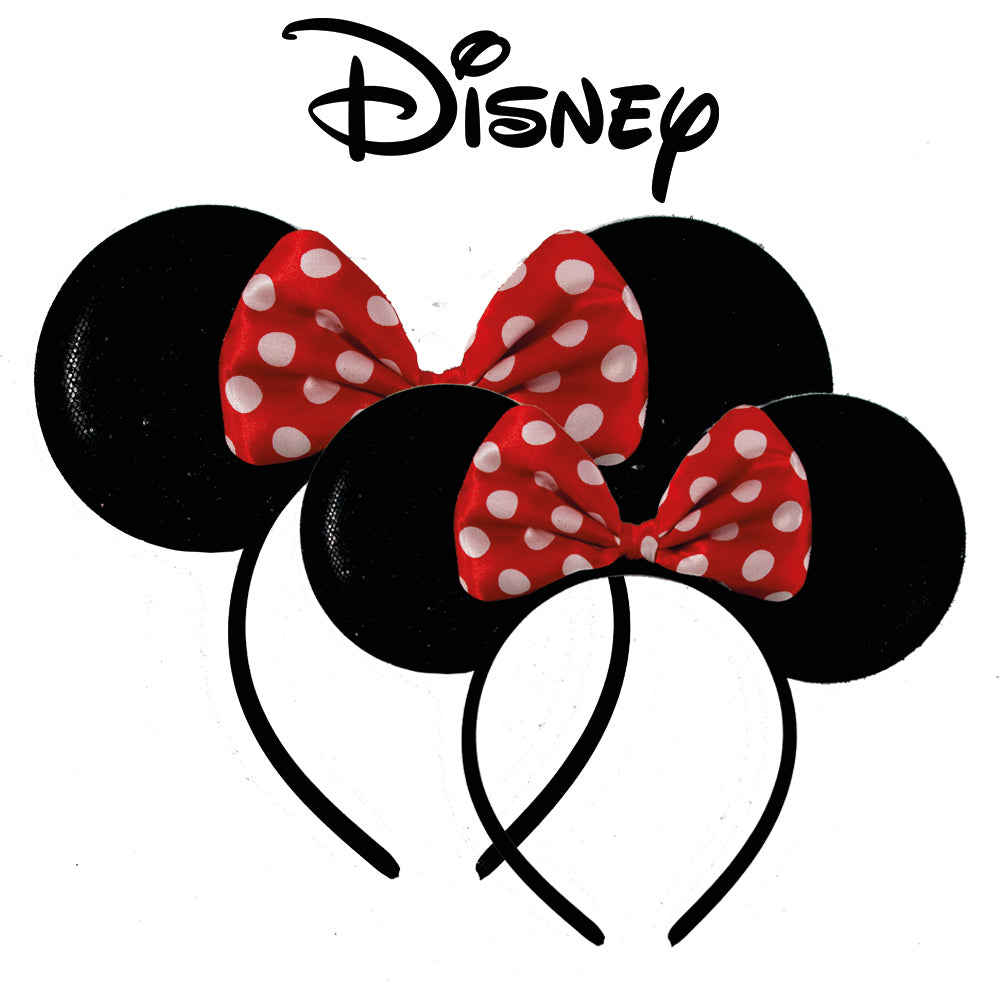 8bd7084b47a4e Disney Minnie Mouse Sparkled Ear Shaped Headband with Polka Dot Bow ...