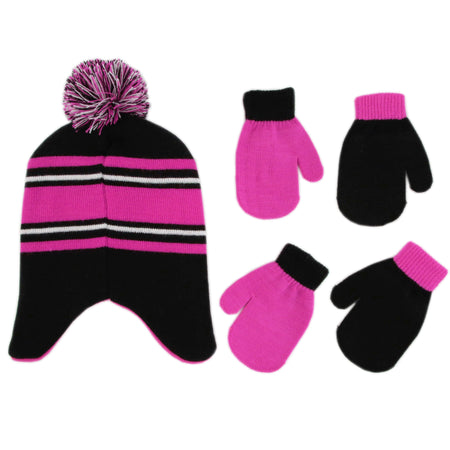Disney Minnie Mouse Hat and 2 Pair Mittens Cold Weather Set, Toddler Girls, Age 2-4 - The Accessories Outlet