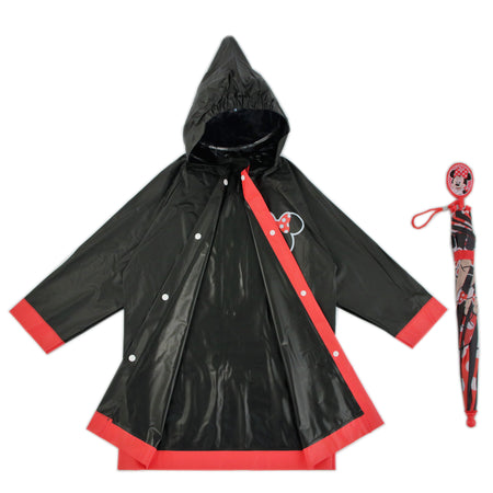 Disney Minnie Mouse Slicker and Umbrella Rainwear Set, Little Girls, Age 2-3 or 4-5 - The Accessories Outlet