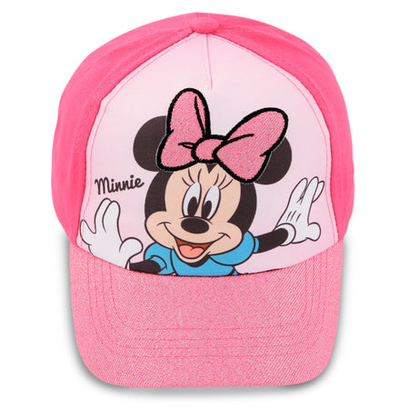 Disney Minnie Mouse Cotton Baseball Cap, Little Girls, Age 2-4 or 4-7 - The Accessories Outlet