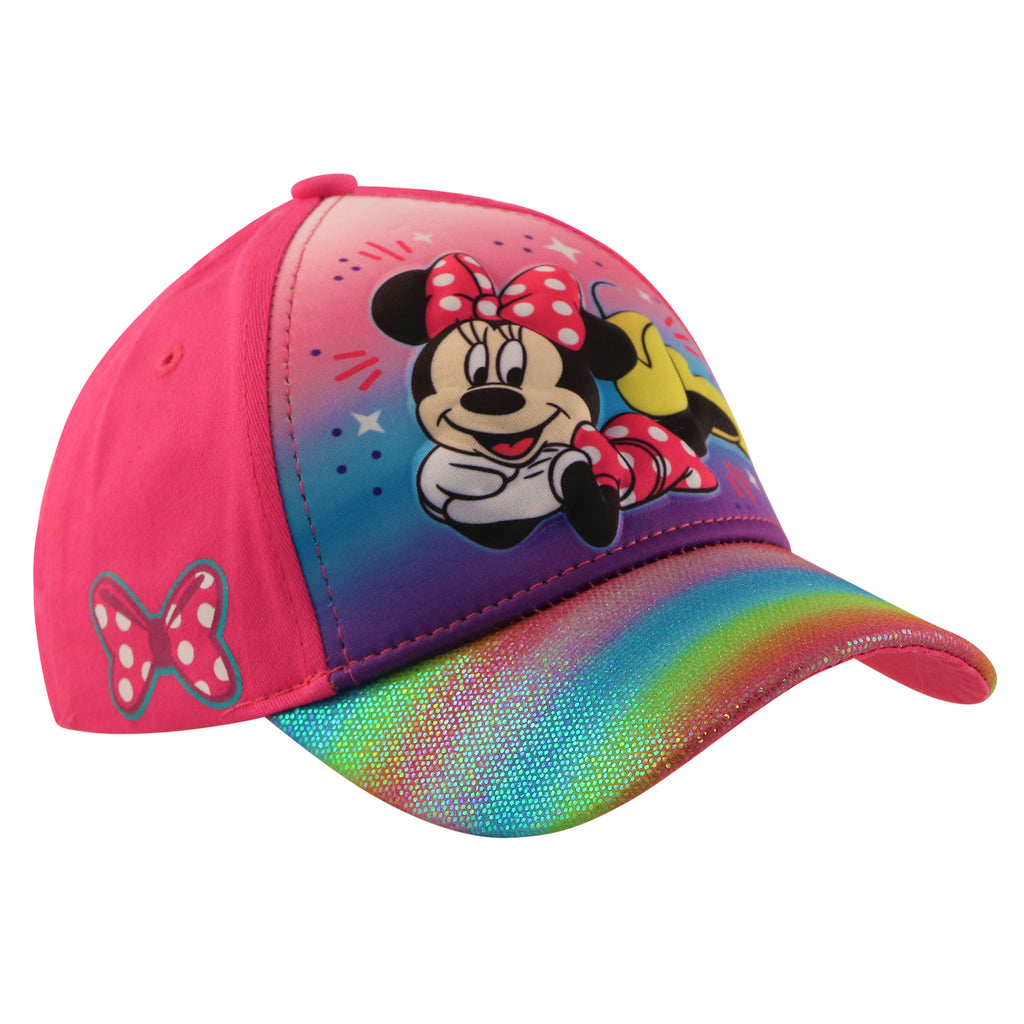Disney Minnie Mouse 3D pop Baseball Cap, Little Girls, Age 4-7 - Accessory Place