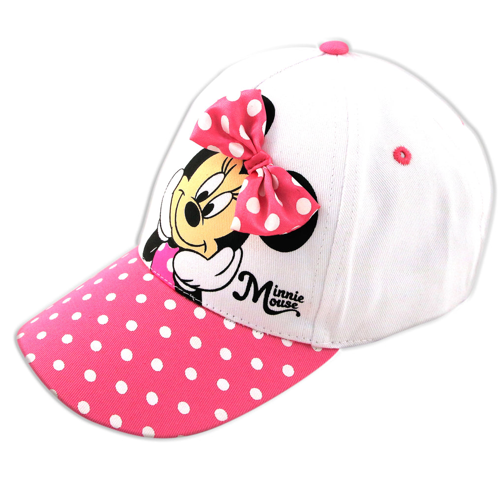 Disney Minnie Mouse Baseball Cap, Little Girls, Age 4-7 - Accessory Place