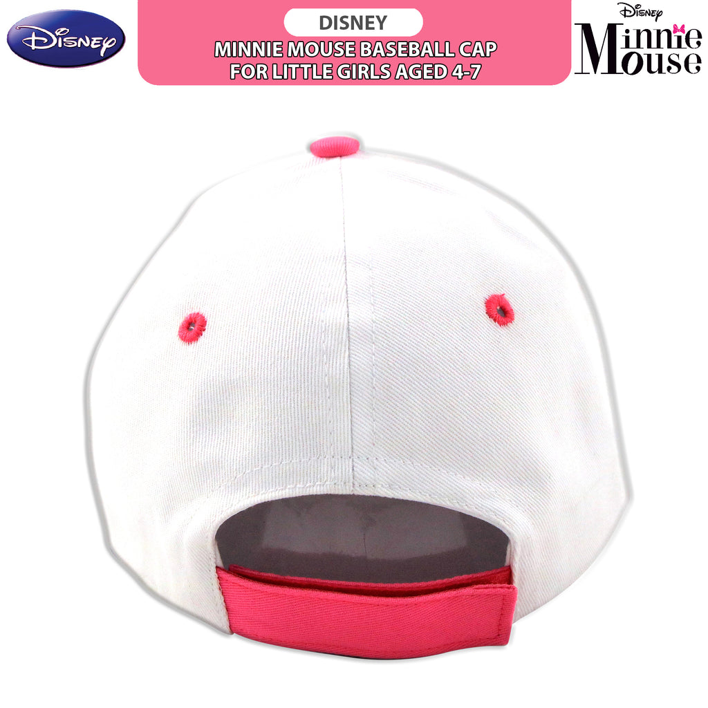 Disney Minnie Mouse Baseball Cap, Little Girls, Age 4-7 - The Accessories Outlet